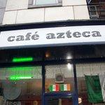 Outside Cafe Azteca