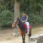 My son in horse back
