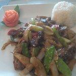Roast duck w/basil sauce