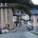 Cibiana village, hotel Remauro in the background