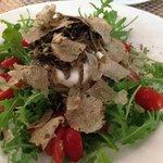burrata cheese + truffles