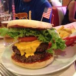 Un double-cheeseburger