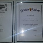 Bossy instructions and blank certificate of excellence