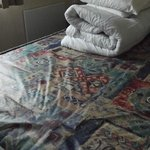 Plastic coated double bed