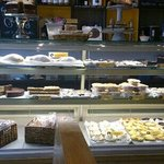 The cake counter at the yellow canary