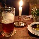 Great beer in an atmospheric bar