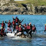 Coasteering off Anglesey.