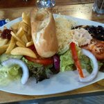 Vegetarian cheese Ploughman's Lunch