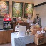 Nice snack / espresso area