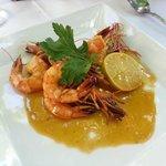 shrimps on orange/lemon