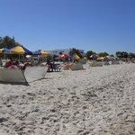 spiaggia davanti al'hotel