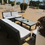 Relax at the terrace of the bar