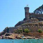 castillo junto a la playa