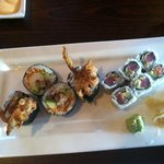 soft shell maki and spicy tuna maki