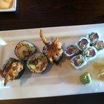 soft shell maki and spicy tuna maki