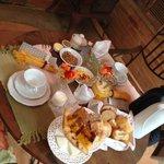Café da Manhã servido no Gazebo