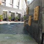 bottom of pool area