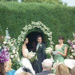 Our garden ceremony