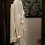 Plush robes, private water closet