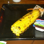grilled corn (small, over cooked and tasteless)