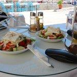 Greek Salads from the poolside bar - Mmmmm