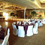 This is the reception hall the day of our wedding :)