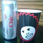 Coca e bicchiere
