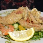 Seafood Platter and battered fish pieces