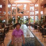 lobby lounge(my son with grandmother)