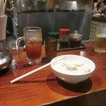 Boiled gyozas