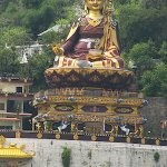 Statue of Tibetan figure Padmasambahva, is the second tallest Buddhist statue in India at 123 fe