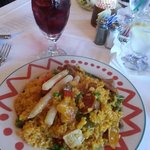 Sangria and Meat Paella