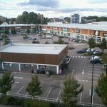 retail park, viewed from the bridge
