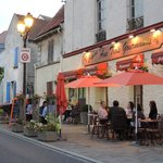 Dining in Roissy village