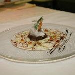 arpaccio de poulpe en marinade d'agrumes