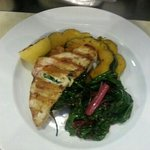 stuff swordfish with spinach and fetta chese