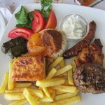 Meal Plate with different kinds of meat, delicious!