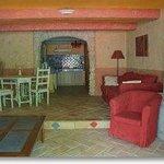 Provençal apartment - living room and open kitchen