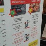 menu turistici davvero convenienti