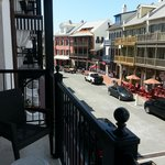 View from the balcony at Rosemary Beach shops