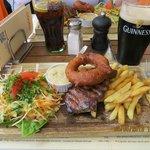 Steak e Guinness. Perfeito!