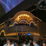 Gold Diggers in Golden Nugget, view from freemont st.