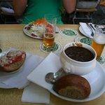 Beef Tartar, Salad, Goulash