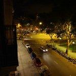 Zimmeraussicht in der Nacht