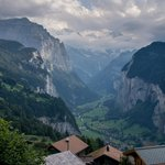 View into the Lauterbrunnen Valley from near the hotel