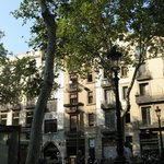 Front view of hotel from Las Ramblas