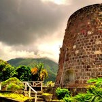 Nevis Peak and Sugar Mill at Eva Wilken Gallery