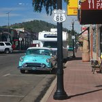 Route 66 qui traverse Williams