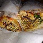 Spicy szechuan fried chicken sandwich