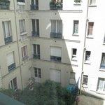 Garden view from room window